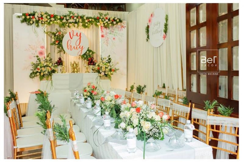 Dịch vụ trang trí tiệc cưới BeT decor