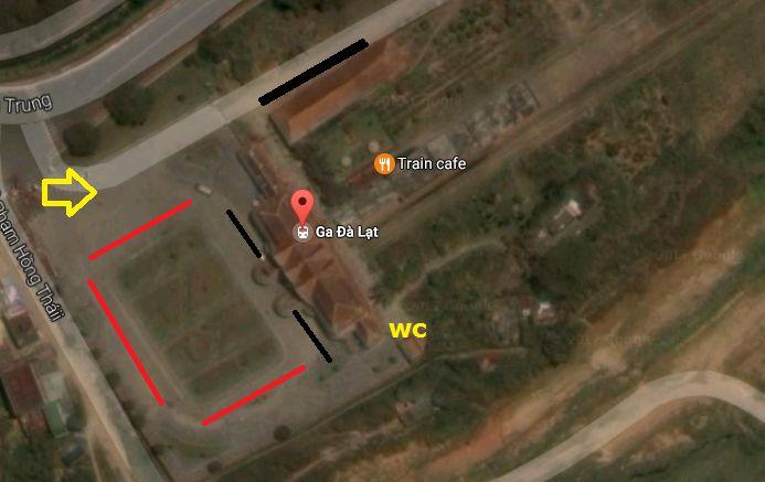 bản đồ hướng dẫn tham quan ga Đà Lạt