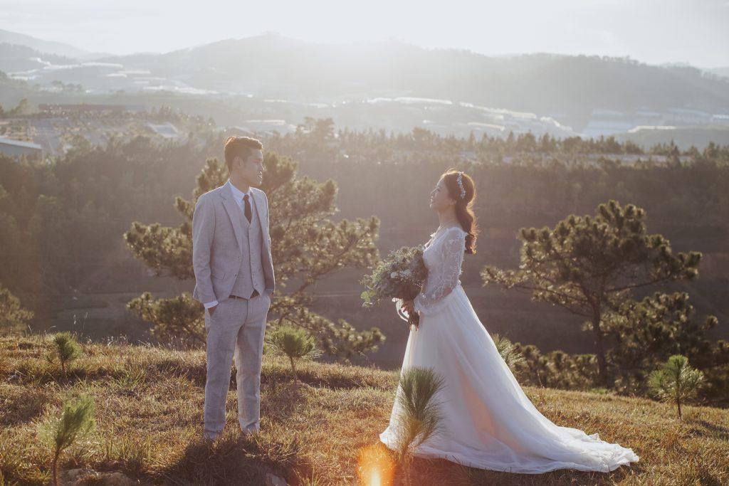 chụp ảnh cưới ở đồi thiên phúc đức