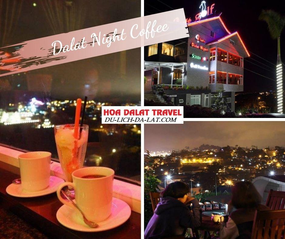 Quán cafe Dalat night