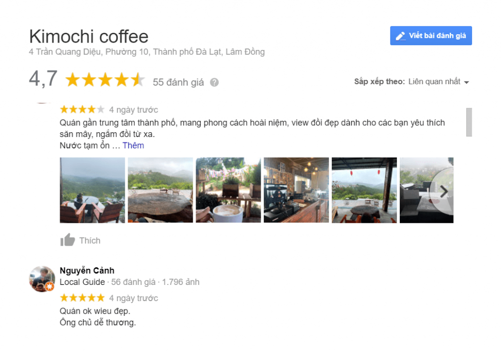 review quán kimochi coffee